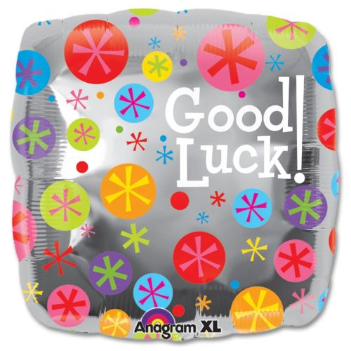 Good Luck Bubble Birst Mylar Party Balloon from Balloons Shop NYC