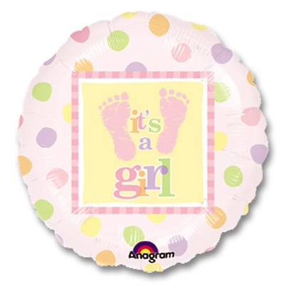 Its a Girl Balloon from Balloons Shop NYC