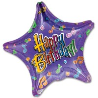 Happy Birthday Tunes Mylar Balloon from Balloon Shop NYC