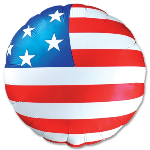 American Flag Mylar Balloon 18 Inch from Balloon Shop NYC