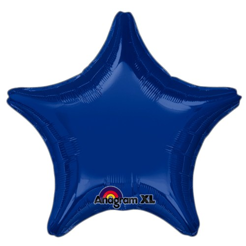 Dark Blue Star Solid Color Foil Party Balloon 19 inch from Balloon Shop NYC