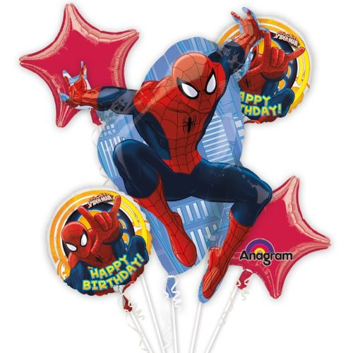 Ultimate Spider-Man Birthday Bouquet from Balloons Shop NYC