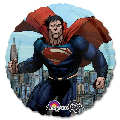 Superman - Man of Steel Marvel Mylar Party Balloon From Balloon Shop NYC