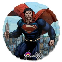 Superman - Man of Steel Marvel Mylar Party Balloon From Balloon Shop NYC