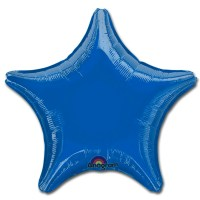 Blue Star Solid Color Foil Party Balloon 19 inch from Balloon Shop NYC