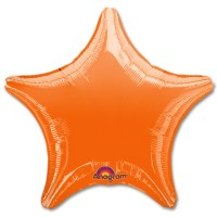 Orange Star Solid Color Foil Party Balloon 19 inch from Balloon Shop NYC t_MetallicOrange-