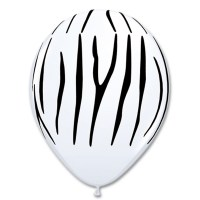 Zebra Stripes Printed Latex Balloon from Balloon Shop NYC