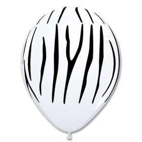 Zebra Stripes Printed Latex Balloon from Balloon Shop NYC