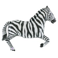 Zebra Foil Mylar Balloon from Balloon Shop NYC