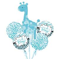 Baby Boy Safari Balloon Bouquet from Balloons Shop NYC