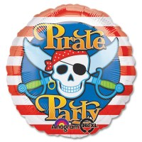 Pirate Party Mylar Party Balloon From Balloon Shop NYC