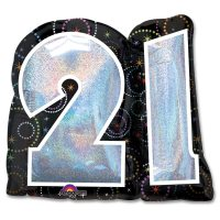 Party Time 21 Birthday Mylar Balloon 27 inch Inflated high-quality cheap balloons nyc delivery
