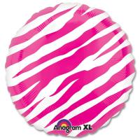 Pink Zebra Decorators Balloons 18 inch from Balloons Shop NYC