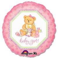 Baby Girl Teddy Bear Gift Balloon from Balloons Shop NYC