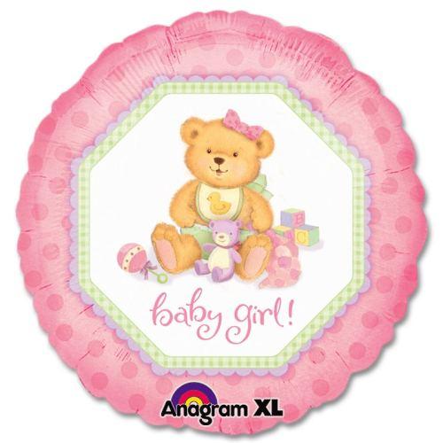Baby Girl Teddy Bear Gift Balloon from Balloons Shop NYC