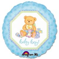 Baby Boy Teddy Bear Balloon from Balloons Shop NYC