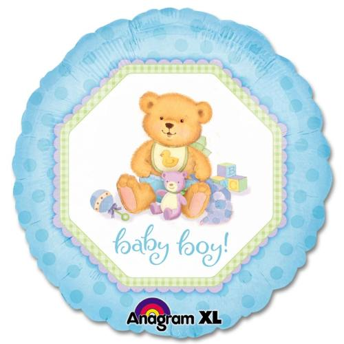 Baby Boy Teddy Bear Balloon from Balloons Shop NYC