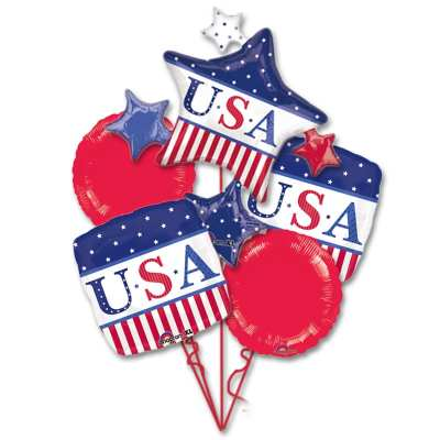 American Classic Patriotic Balloon Bouquet from Balloons Shop NYC