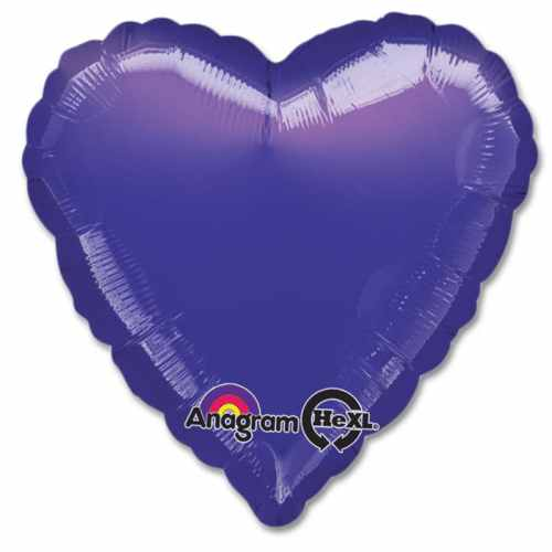 Dark Blue Heart Shape 18 Inch Mylar Party Balloon from Balloons Shop NYC