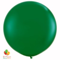 Forest Green Latex Party Balloon 17 inch Inflated Round delivery Balloons Shop NYC