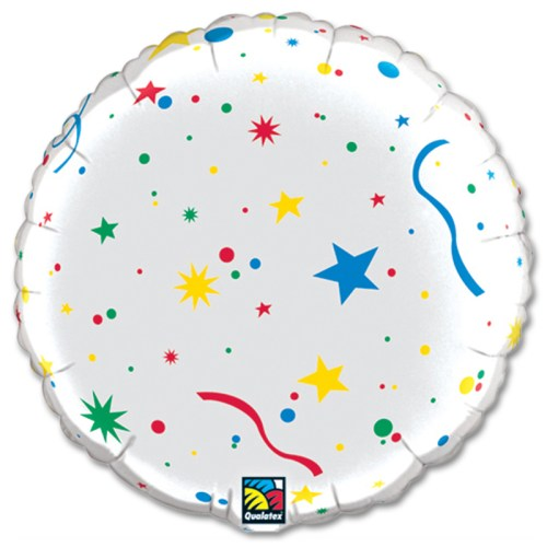 Happy Birthday Candles Personalized Microfoil Balloon back view from Balloon Shop NYC