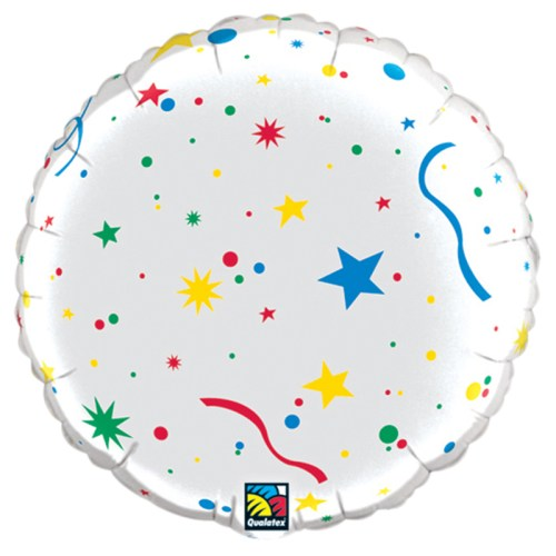 Happy Birthday Stars Personalized Microfoil Balloon back view from Balloon Shop NYC