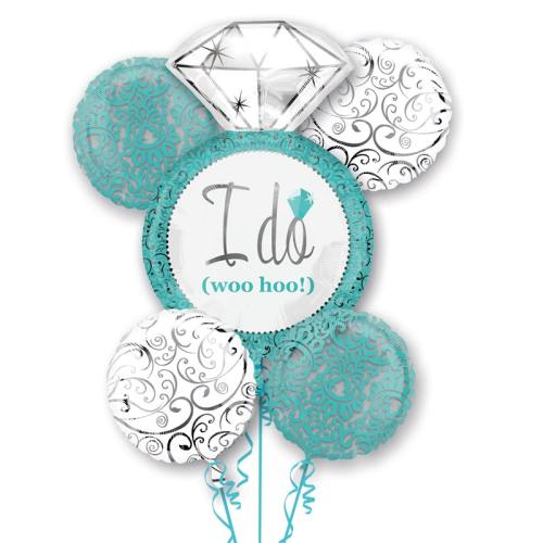 I Do Blue Wedding Mylar Balloon Bouquet from Balloons Shop NYC