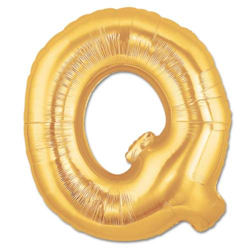 Jumbo Foil Gold 40 inch Letter Q Balloon from Balloons Shop NYC