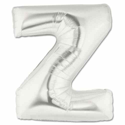 Large Silver Mylar Letter Balloon 40 Inch Letter Z from Balloons Shop NYC