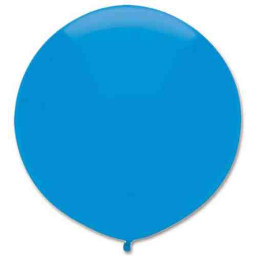 Latex Party Balloon 17 Round Bright Blue from Balloons Shop NYC