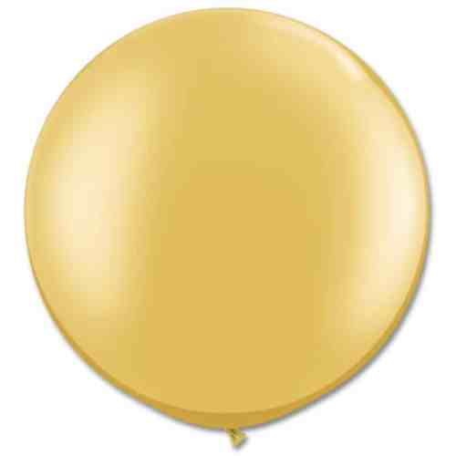 Latex Party Balloon 30 Inch Round Metallic Gold from Balloons Shop NYC