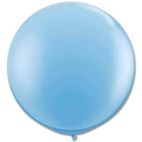 Latex Party Balloon 36 Inch Round Pale Blue from Balloons Shop NYC