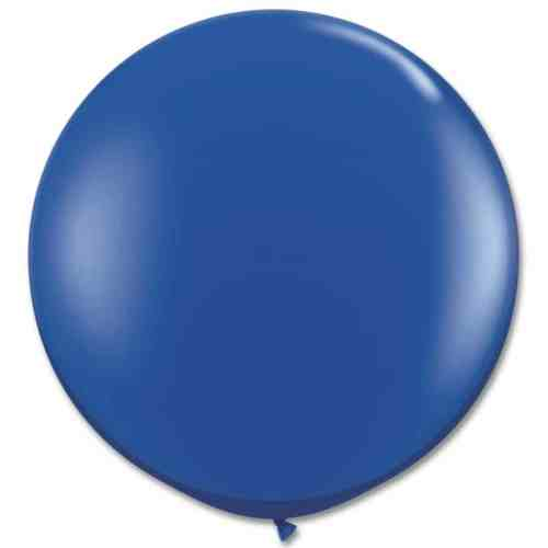 Latex Party Balloon 36 Inch Round Royal Blue from Balloons Shop NYC