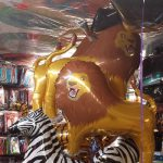 Lions and Zebras Jumbo Party Mylar Balloons Bouquet