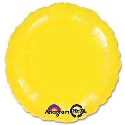 Metallic Yellow Circle 18 Mylar Party Balloon from Balloons Shop NYC