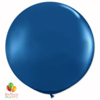 Midnight Blue Round Latex Party Balloon 17 inch Inflated high-quality cheap balloons nyc delivery Balloon Shop