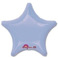 Pastel Blue Star Solid Color Foil Party Balloon 19 inch from Balloon Shop NYC