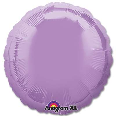 Pearl Lavender Circle 18 Mylar Party Balloon from Balloons Shop NYC