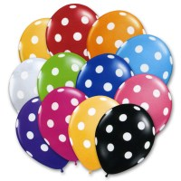 Ultimate Assortment Latex Party Balloons Polka Dot 12 inch from Balloon Shop NYC