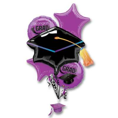 Purple Graduation Balloon Bouquet from Balloons Bouquet NYC