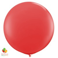 Real Red Round Latex Party Balloon 17 inch Inflated cheap balloons NYC delivery