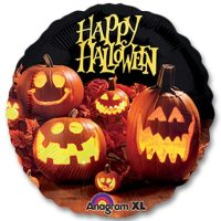 Halloween Photographic Mylar 18 inch Party Balloons Inflated from Balloons Shop NYC