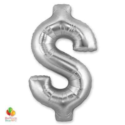 Jumbo-FoiJumbo Foil Silver 40 inch Dollar Sign Balloon