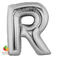 Jumbo-FoiJumbo Foil Silver 40 inch Letter R Balloon