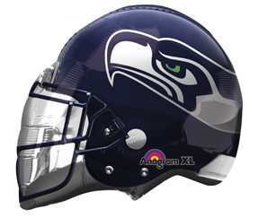 Seahawks Helmet Party Balloon- 32inch from Balloon Shop NYC