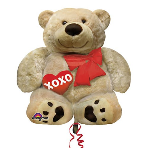 Valentines Day Balloon Cuddly Bear XO Love 28 Inch Delivery From Balloon  Shop NYC