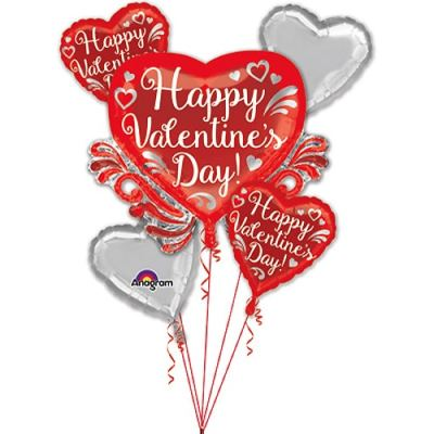Valentines Day Balloons Bouquet FANCY SWIRLS 3447799 from Balloon Shop NYC
