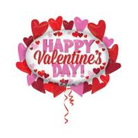 Valentines Day Mylar Balloon Hearts Marquee 31 Inch delivery from Balloon Shop NYC