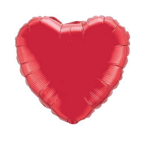valentines day mylar balloon ruby red heart 18 inch - balloon shop nyc, Ideas
