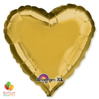 Solid Color Mylar Balloon Metallic Gold Heart 18 Inch Inflated high-quality cheap balloons nyc delivery